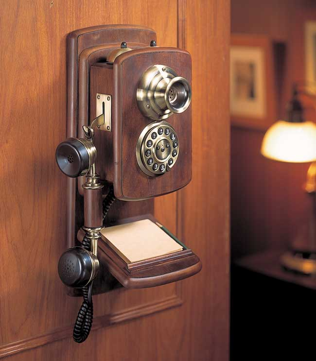 Wood Wall Telephone【HT-09A】【eモンズ】