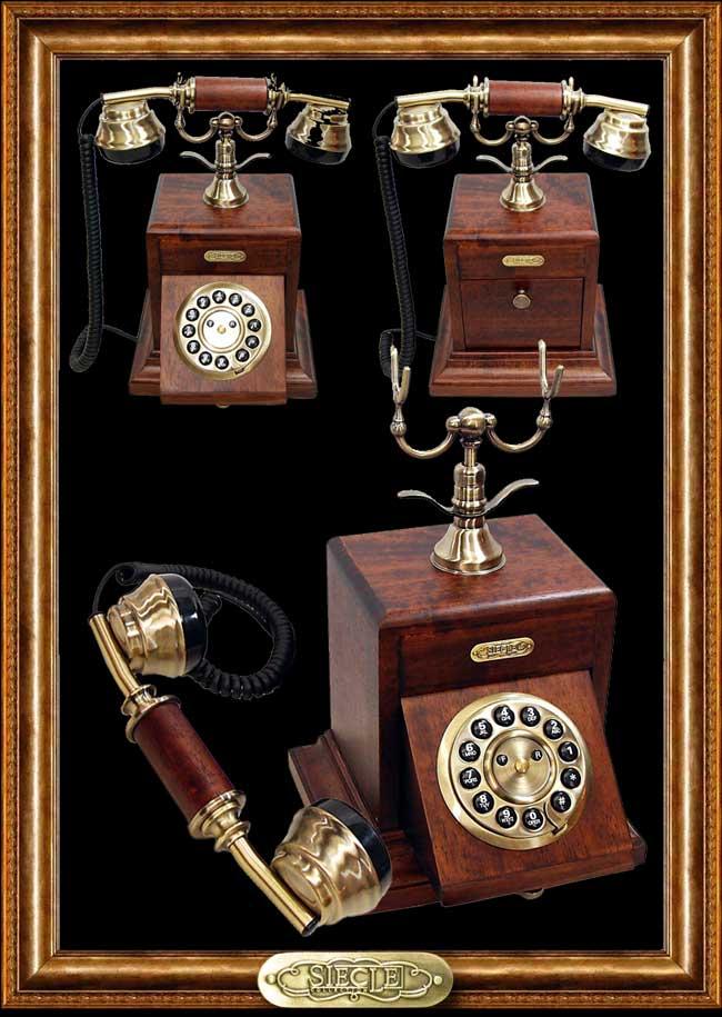 Wood Desk Telephone【HT-10A】【eモンズ】