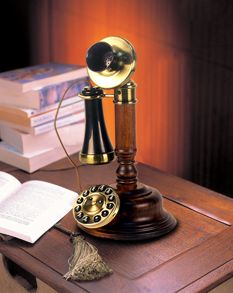Wood Desk Telephone【HT-05C】【eモンズ】