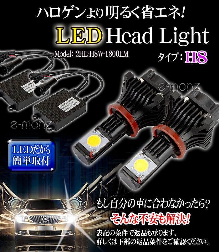 LEDヘッドライト用バルブ H8タイプ