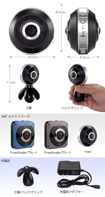 360°カメラを2基搭載 720°2Kカメラ