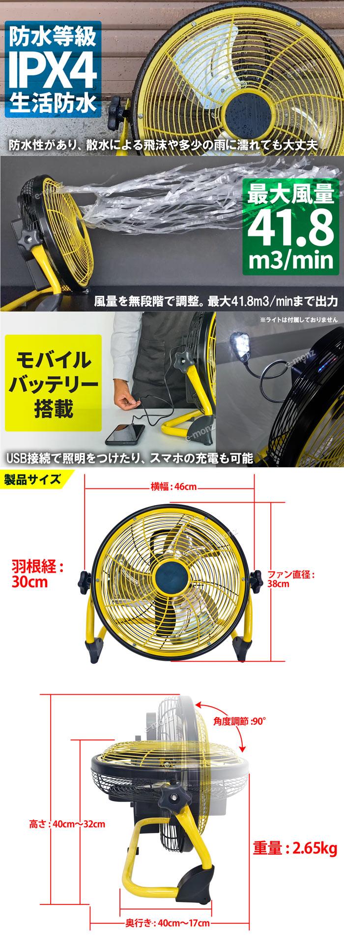DCモーター工業扇