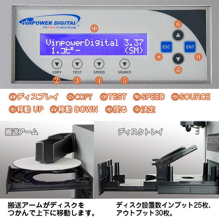 オートローダー付きデュプリケーター【CUB25-S3T】DVD2ドライブ