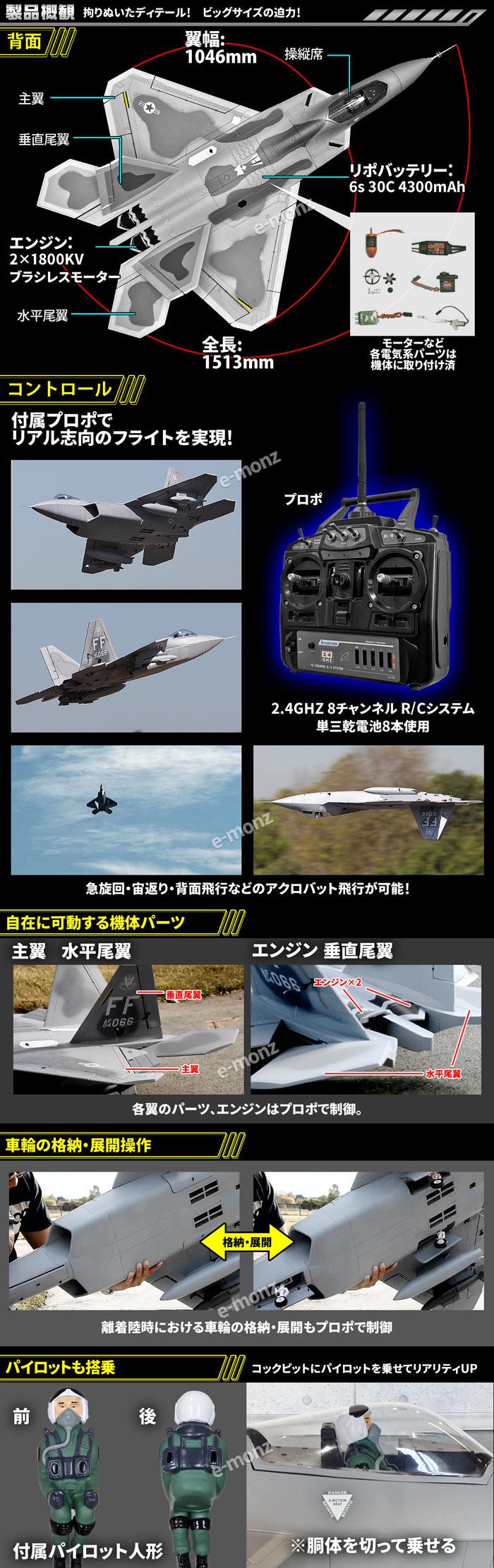 戦闘機ラジコン F-22