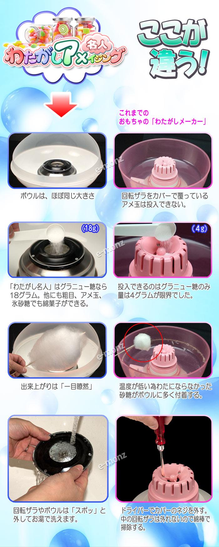 コットンキャンディーメーカー【わたがしアメイジング】ブルー