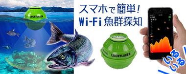 ワイヤレススマート魚群探知機 Wi-Fi Fish Finder【LUCKY LAKER】