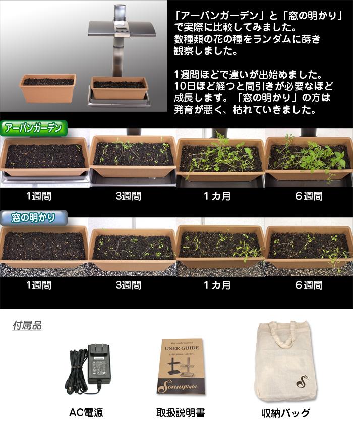 LED家庭菜園キット【アーバンガーデン/Urban Garden】窓の明かりとの比較