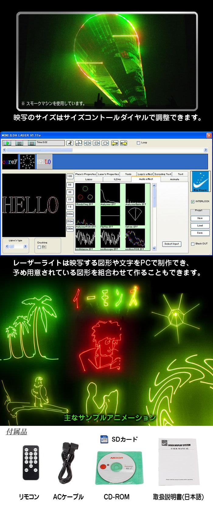 レーザーライト【SD01RG】アニメーション制作ソフト画像