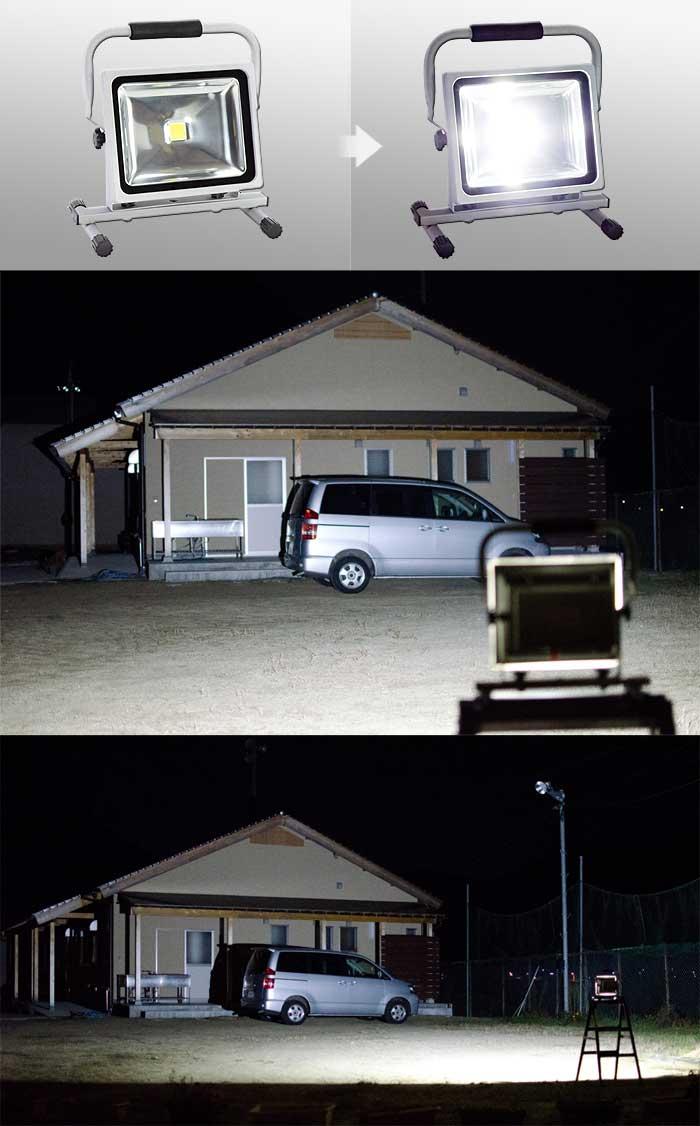 バッテリー内蔵LEDサーチライト【D-S9-2/30W】30W