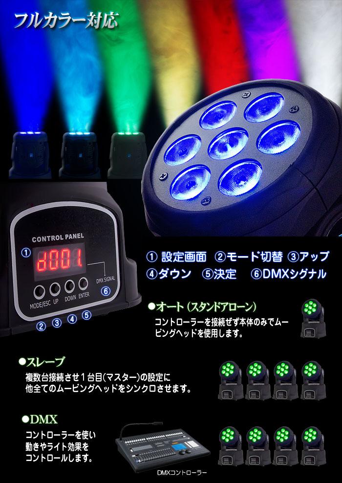 DMX対応フルカラーLEDムービングヘッド【LED Moving Head】