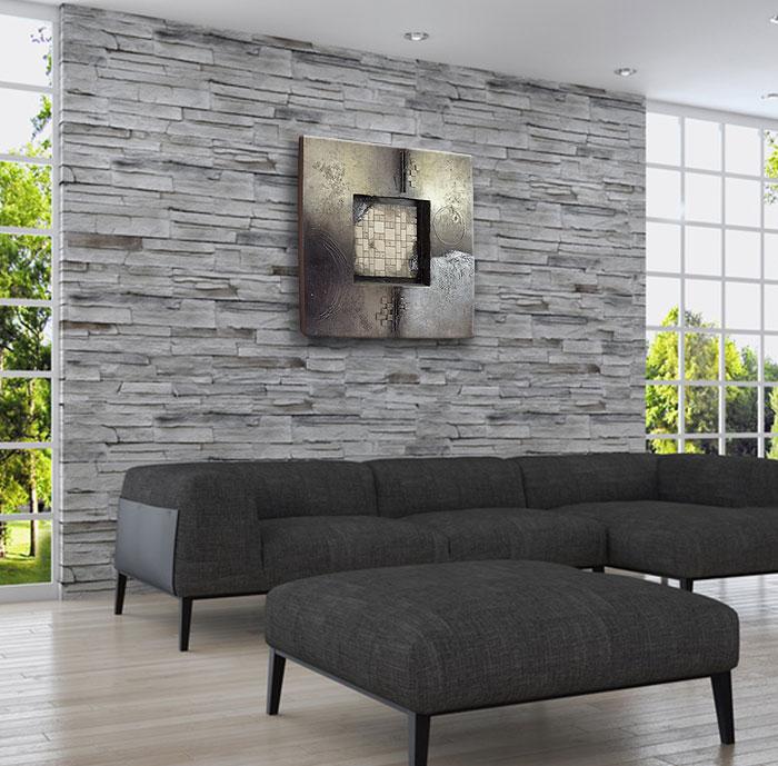 ホテルのロビーや客室や応接間等のフォーマルな空間にとても馴染みます イーモンズアートコレクション 3D-BLOCK