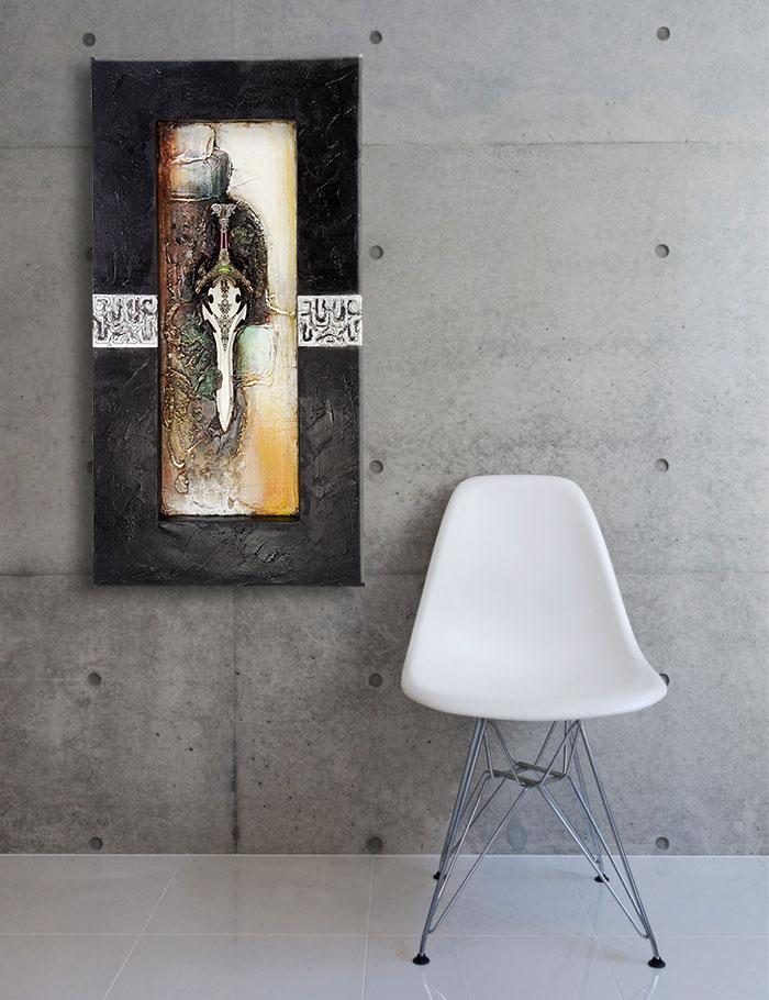 打ちっぱなしのコンクリートや単調な色彩の壁にもよく似合う イーモンズアートコレクション[3D-SWORD:04]