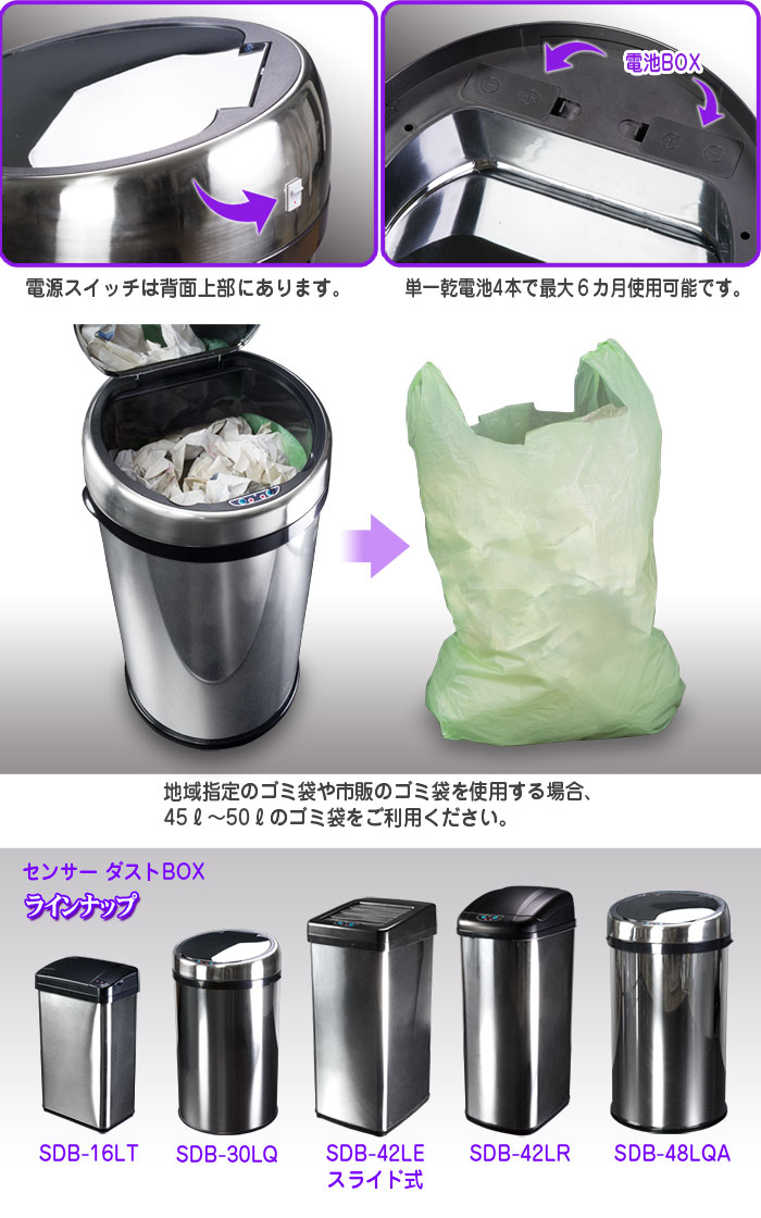 センサーダストBOX 48Lタイプ【SDB-48LQA】