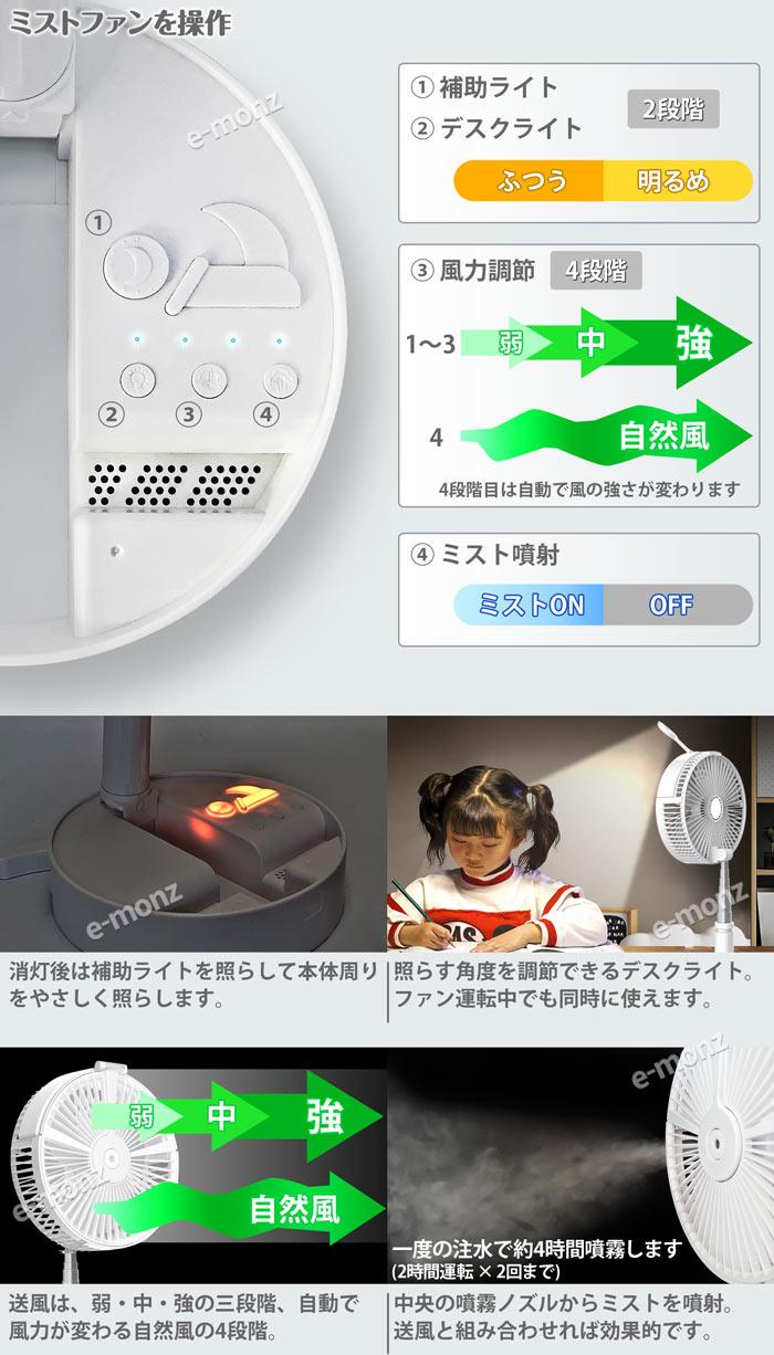 USBポータブル扇風機