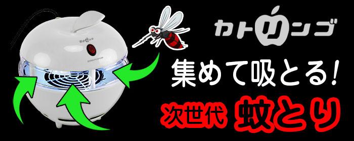 次世代蚊取り器【カトリンゴ】薬も電気ショックも使わない!集めて吸い取る吸引方式