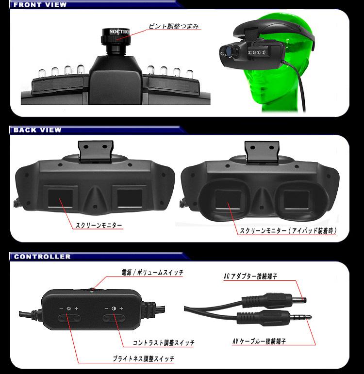 ナイトビジョンヘッドマウント【DNV-GO2】 前面画像 背面画像