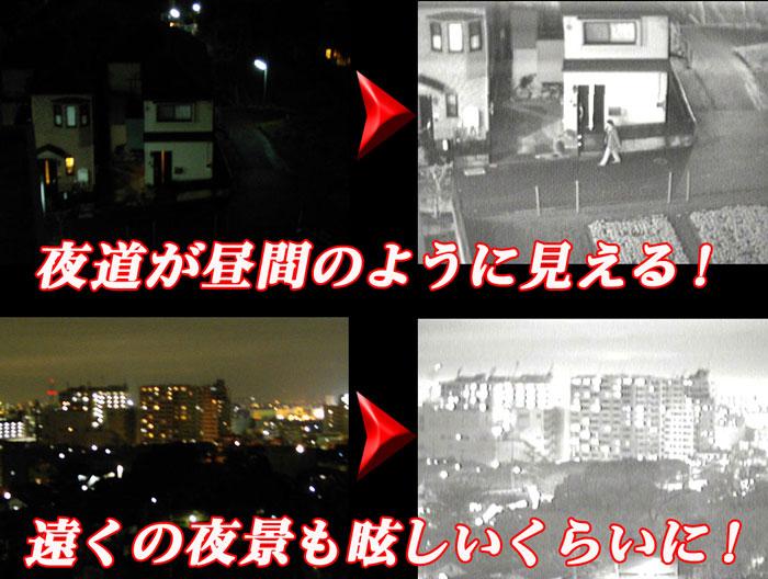 ナイトビジョンヘッドマウント【DNV-GO2】 夜間使用イメージ