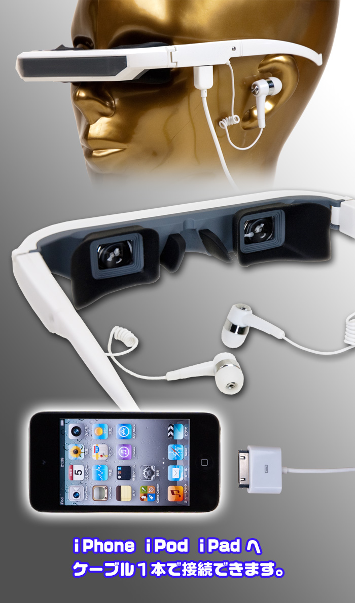 iPhone・iPod・iPad用 アイウェアディスプレイ【i・Glass】