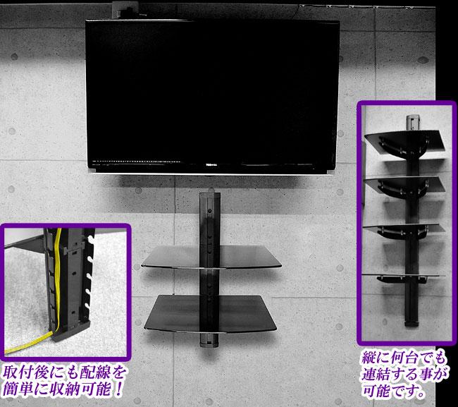壁掛けAVラック二段タイプ【PDH-104】 設置例
